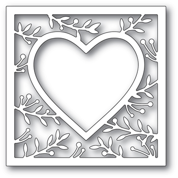 Memory Box LAVONIA HEART FRAME Craft Die 94370