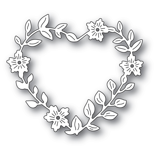 Memory Box BLOOMING HEART WREATH Craft Die 94371 Preview Image