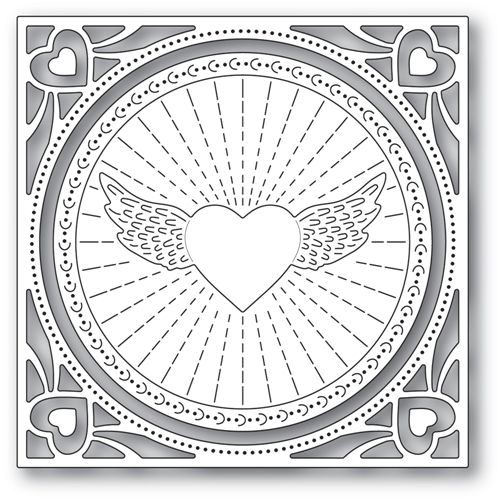 Memory Box WINGED HEART FRAME Craft Dies 94372 Preview Image