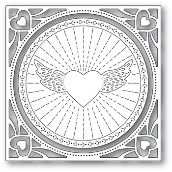 Memory Box WINGED HEART FRAME Craft Dies 94372