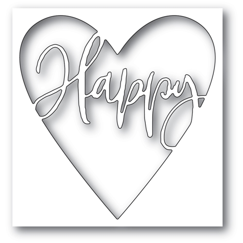 Memory Box HAPPY HEART COLLAGE Craft Die 94373 Preview Image