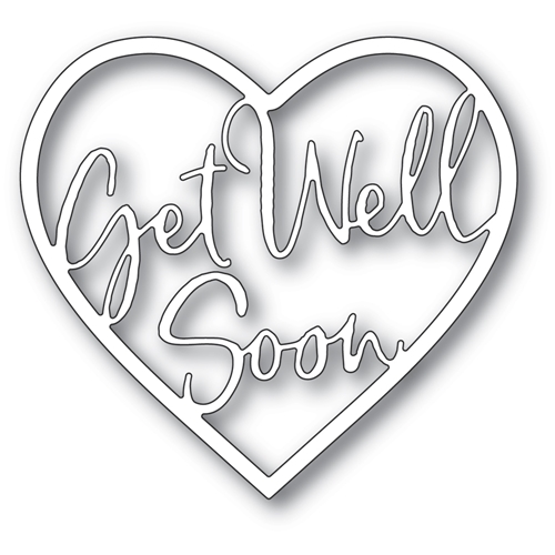 Memory Box GET WELL SOON LOVING HEART Craft Die 94380 Preview Image