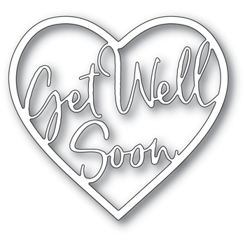 Memory Box GET WELL SOON LOVING HEART Craft Die 94380