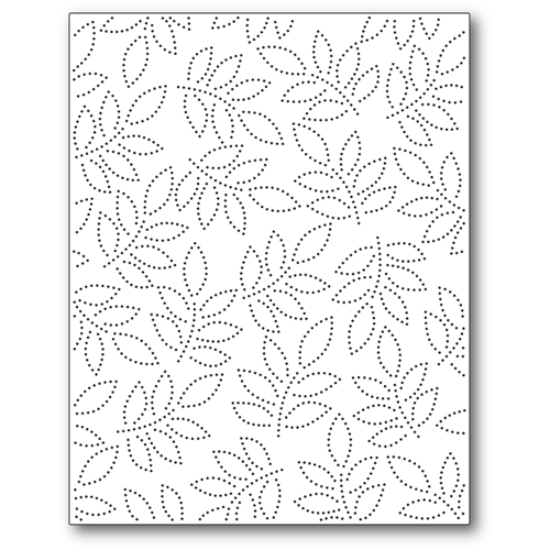 Memory Box PINPOINT LEAF PLATE Craft Die 94381 Preview Image