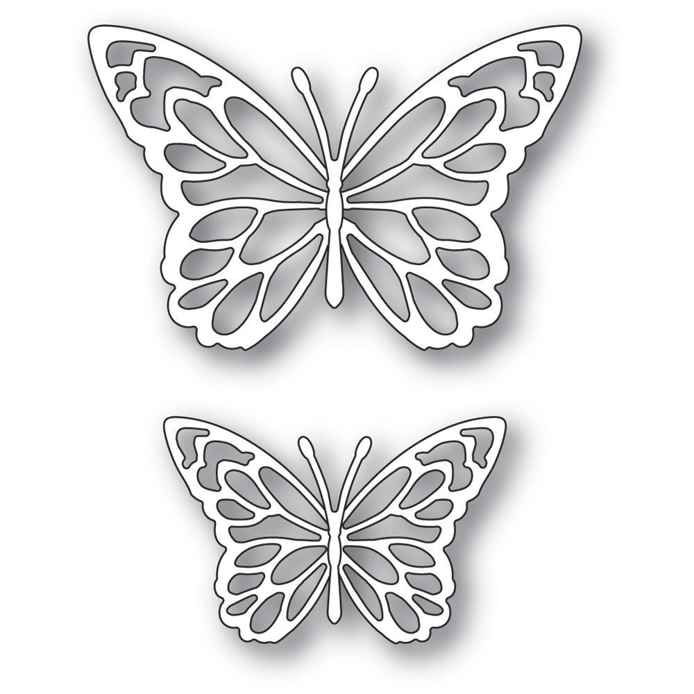 Memory Box GLORIOSA BUTTERFLY DUO OUTLINES Craft Dies 94383 zoom image