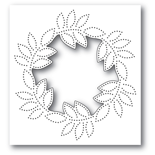 Memory Box PINPOINT LEAF CIRCLE COLLAGE Craft Die 94384 Preview Image