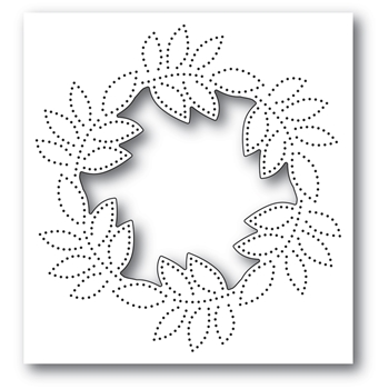 Memory Box PINPOINT LEAF CIRCLE COLLAGE Craft Die 94384