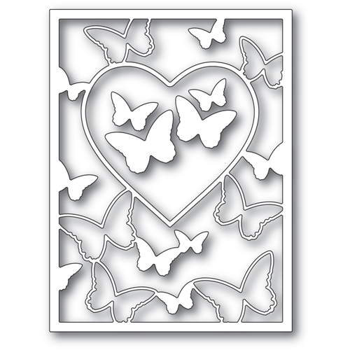 Memory Box BUTTERFLY HEART FRAME Craft Dies 94386 Preview Image