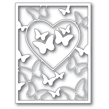 Memory Box BUTTERFLY HEART FRAME Craft Dies 94386