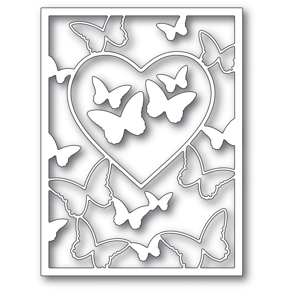 Memory Box BUTTERFLY HEART FRAME Craft Dies 94386 zoom image
