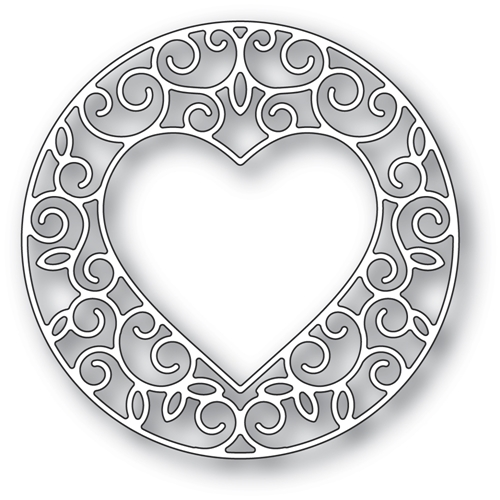 Memory Box GILDED HEART CIRCLE Craft Die 94388* Preview Image