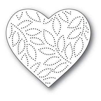 Memory Box PINPOINT LEAF HEART Craft Die 94390