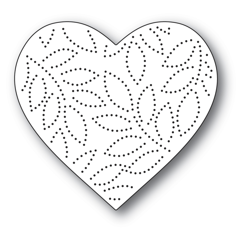 Memory Box PINPOINT LEAF HEART Craft Die 94390 zoom image