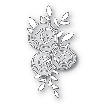 Memory Box SCRIBBLE ROSE TRIO Craft Dies 94399