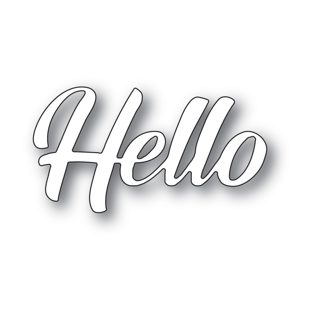 Memory Box HELLO BANNER SCRIPT Craft Die 94392 zoom image