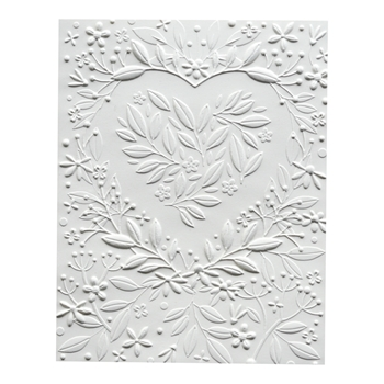 Memory Box HEART BOUQUET 3D Embossing Folder ef1006