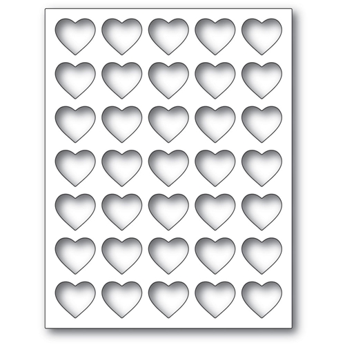 Poppy Stamps GRID HEART FRAME Craft Die 2284 Preview Image