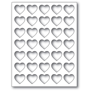Poppy Stamps GRID HEART FRAME Craft Die 2284