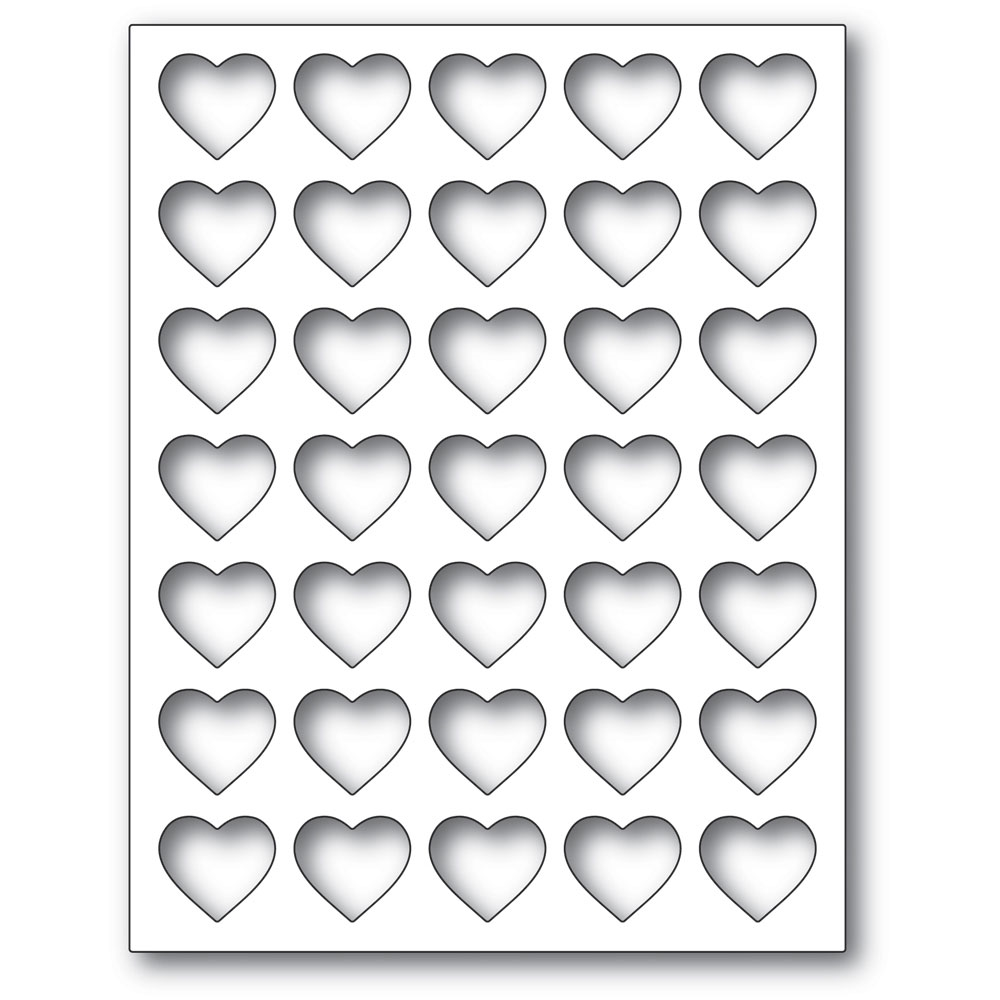 Poppy Stamps GRID HEART FRAME Craft Die 2284 zoom image