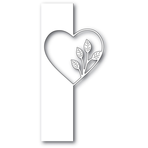 Poppy Stamps SIMPLE LEAF HEART SPLIT BORDER Craft Die 2286 Preview Image