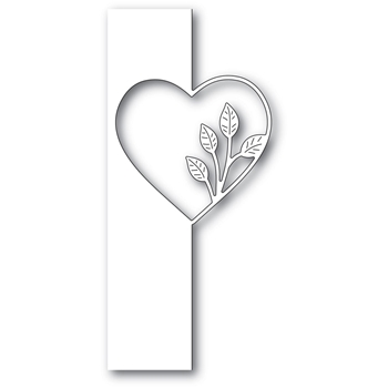 Poppy Stamps SIMPLE LEAF HEART SPLIT BORDER Craft Die 2286