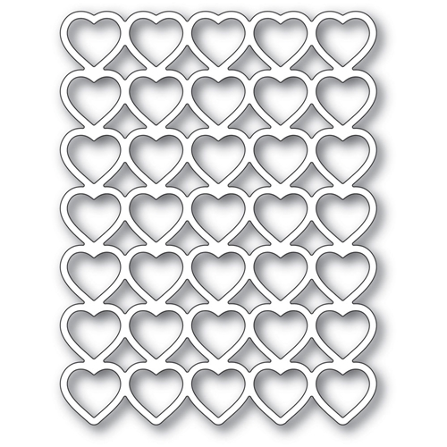 Poppy Stamps BANDED HEARTS Craft Die 2287 Preview Image