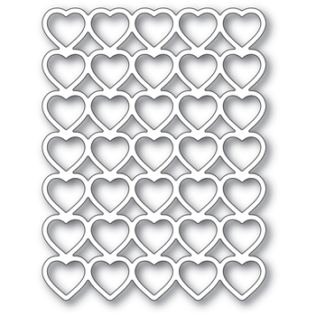 Poppy Stamps BANDED HEARTS Craft Die 2287