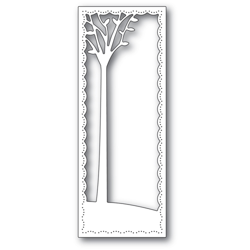 Poppy Stamps TALL SKYLINE TREE FRAME Craft Die 2291 Preview Image