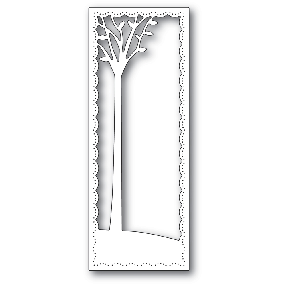 Poppy Stamps TALL SKYLINE TREE FRAME Craft Die 2291 zoom image