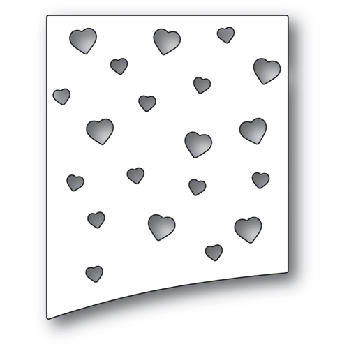Poppy Stamps HEARTSCAPE HILL Craft Die 2292 Preview Image