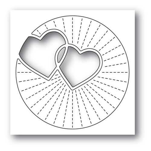 Poppy Stamps TWINKLING HEARTS Craft Die 2296 Preview Image