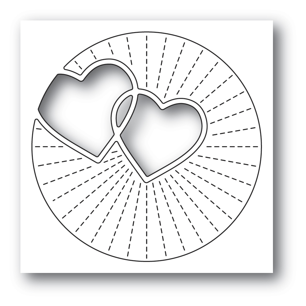 Poppy Stamps TWINKLING HEARTS Craft Die 2296 zoom image