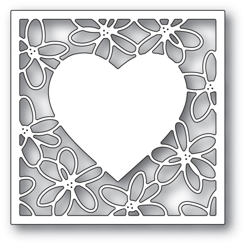 Poppy Stamps SCRIBBLE DAISY HEART FRAME Craft Die 2297 Preview Image