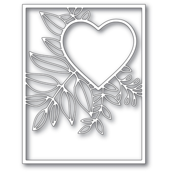 Poppy Stamps GRACEFUL HEART FRAME Craft Die 2298
