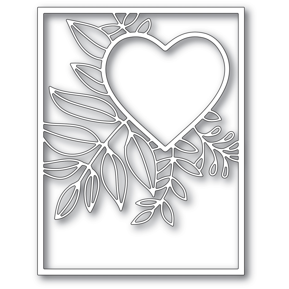 Poppy Stamps GRACEFUL HEART FRAME Craft Die 2298 zoom image