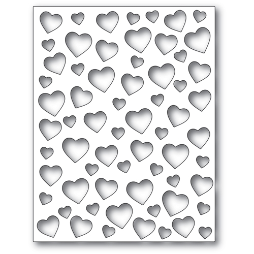 Poppy Stamps CONFETTI HEART PLATE Craft Die 2303 Preview Image