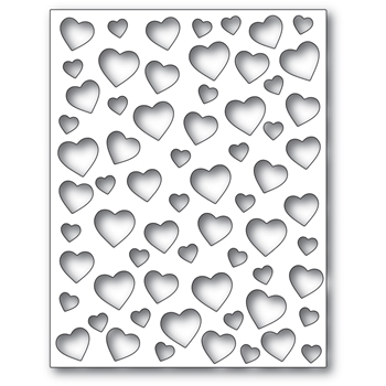 Poppy Stamps CONFETTI HEART PLATE Craft Die 2303