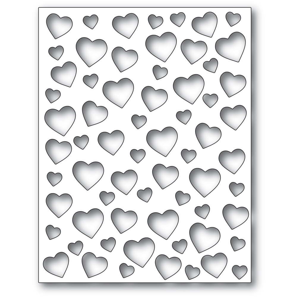 Poppy Stamps CONFETTI HEART PLATE Craft Die 2303 zoom image