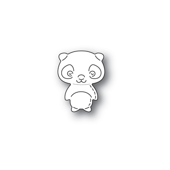 Poppy Stamps WHITTLE PANDA Craft Die 2306