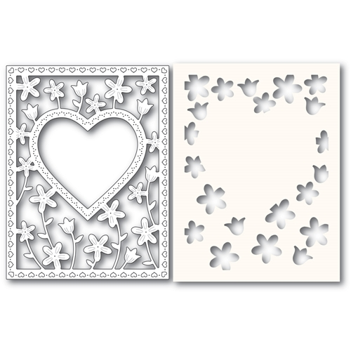 Poppy Stamps MEADOWBLOSSOM FRAME Craft Die and Stencil 2307 Preview Image