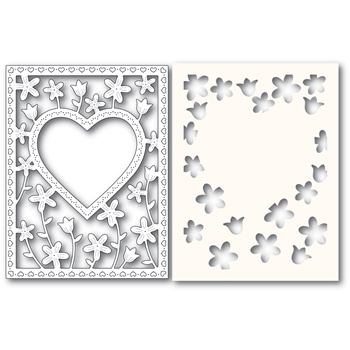 Poppy Stamps MEADOWBLOSSOM FRAME Craft Die and Stencil 2307