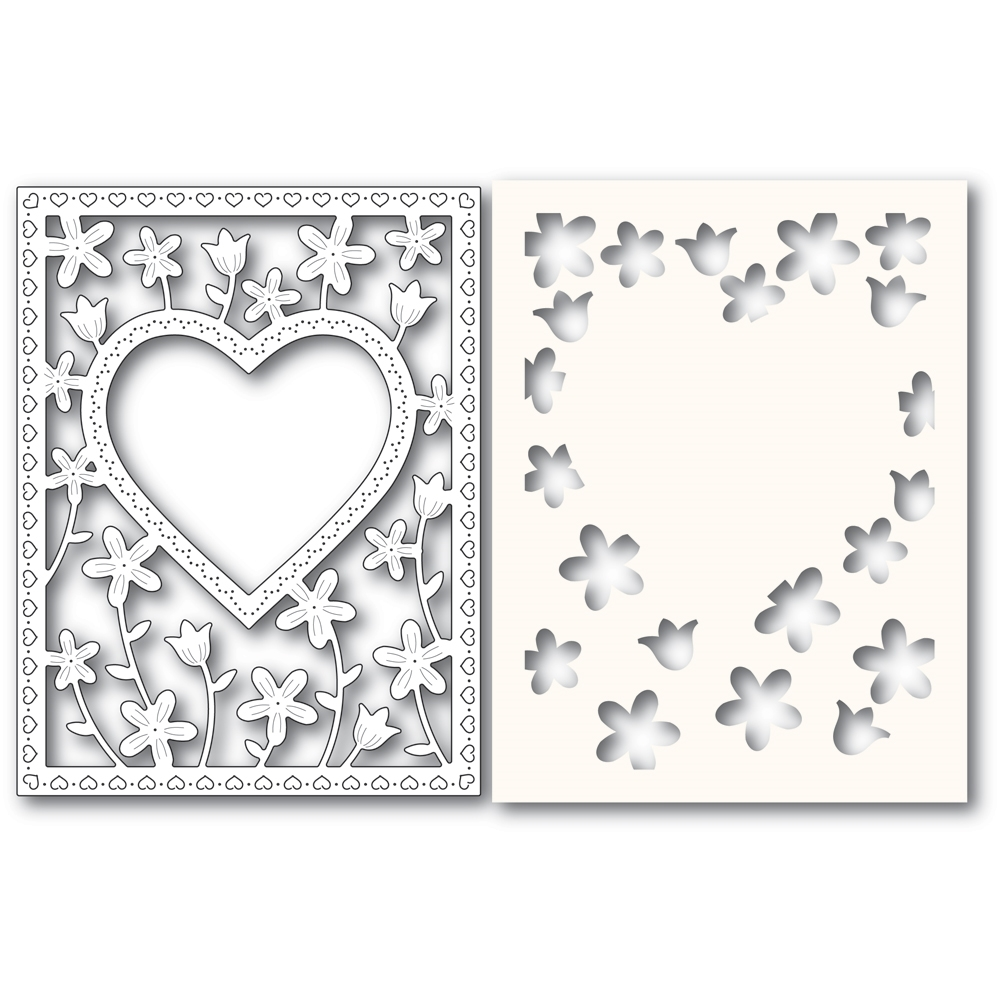 Poppy Stamps MEADOWBLOSSOM FRAME Craft Die and Stencil 2307 zoom image
