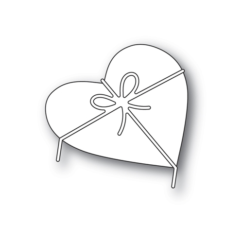 Poppy Stamps HEART AND BOW Craft Dies 2313* Preview Image