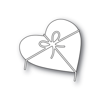 Poppy Stamps HEART AND BOW Craft Dies 2313