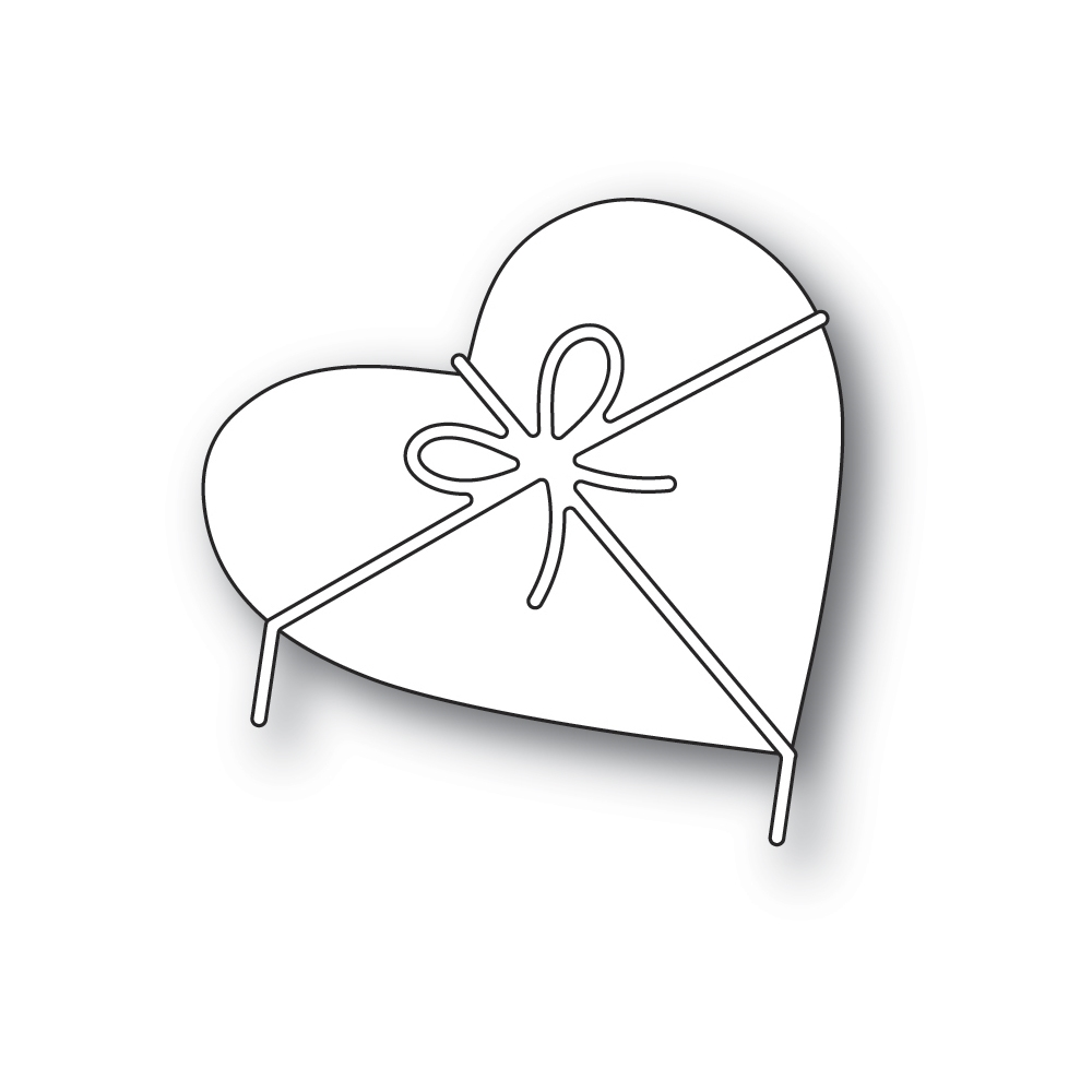 Poppy Stamps HEART AND BOW Craft Dies 2313* zoom image