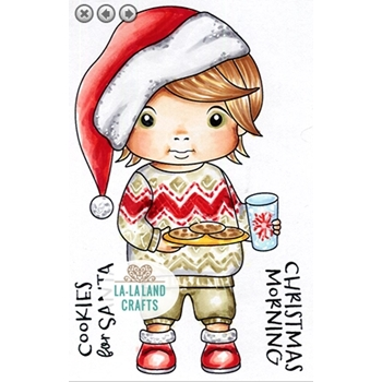 La-La Land Crafts Cling Stamps COOKIES FOR SANTA LUKA 5420