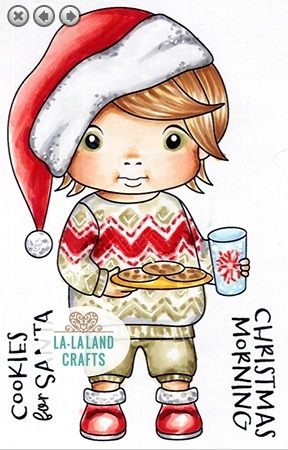 La-La Land Crafts Cling Stamps COOKIES FOR SANTA LUKA 5420 zoom image