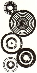 Tim Holtz Rubber Stamp BULLSEYE Circle Stampers Anonymous P2-1409