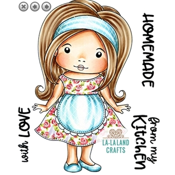 La-La Land Crafts Cling Stamps FROM MY KITCHEN MARCI 5416