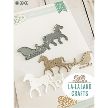 La-La Land Crafts HORSE SLEIGH Dies 8482